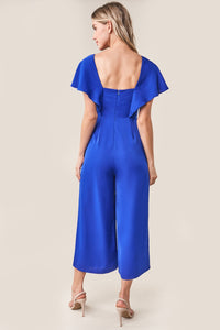 Wellesley Cropped Wide Leg Jumpsuit