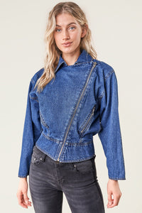 Ready For It Denim Moto Jacket