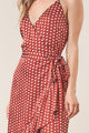 Pretty Woman Polka Dot Wrap Dress