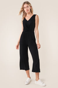 Via Del Jersey Knit Front Twist Jumpsuit