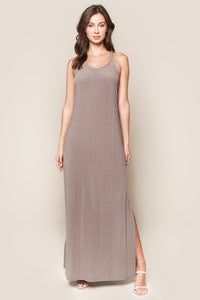Now And Then Ribbed Knit Maxi Dress