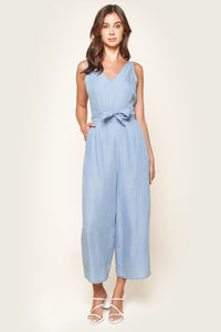 Arizona Chambray Cross Back Jumpsuit