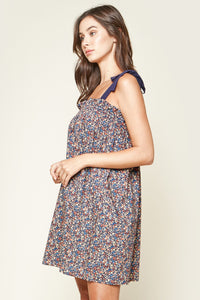 Brandi Floral Shoulder Strap Dress