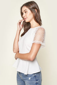 So Chic Lace Peplum Top