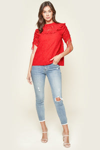 Lomitas High Neck Lace Blouse
