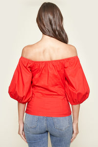 Nori Off The Shoulder Puff Sleeve Top