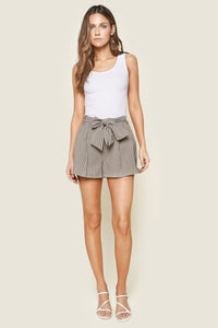 Remmy Striped Waist Tie Shorts