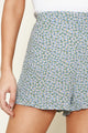 Bellare Floral Ruffled Shorts