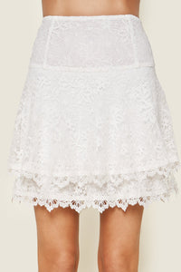Lets Get Away Lace Mini Skirt