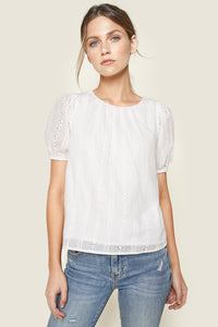 Marmont Eyelet Bow Tie Top
