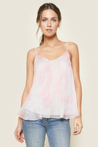 Bella Rosa Pleated Tie-Dye Cami