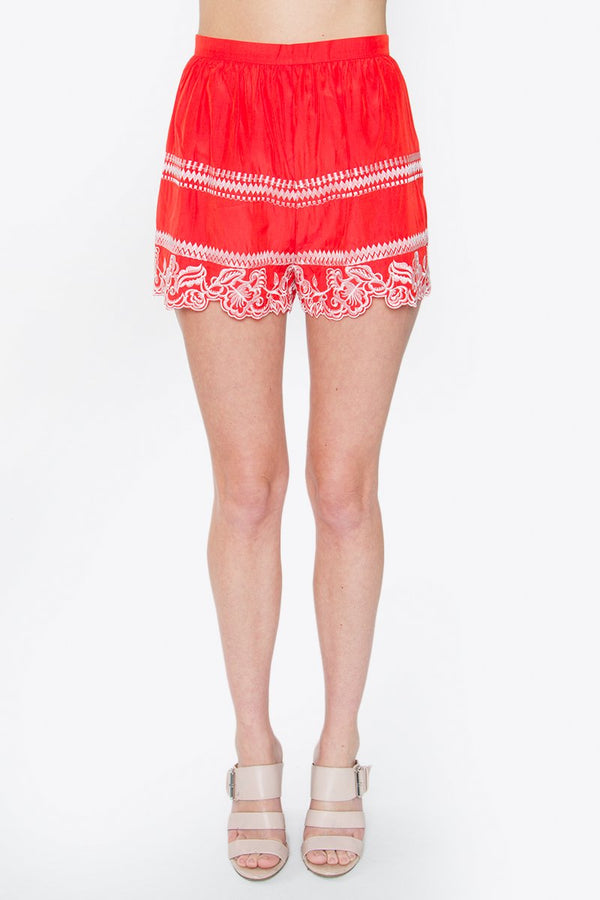 Colleen Embroidered Shorts