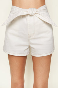 Captured Moments Contrast Stitch Denim Shorts