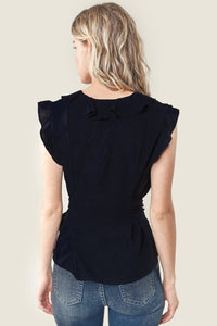 Rivers Ruffled Wrap Top