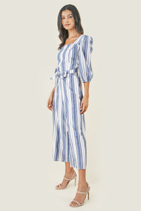 Urisa Striped Cross Back Jumpsuit