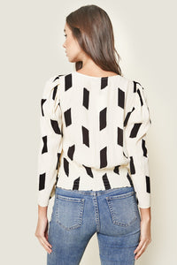 Total Allure Geo Print Surplice Top