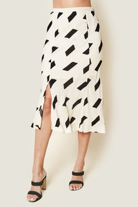 Total Allure Geo Print Midi Skirt