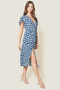 Garden Grace Floral Print Wrap Maxi Dress