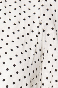 Love Actually Polka Dot Wrap Crop Top