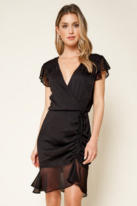 Much Love Ruched Mini Dress
