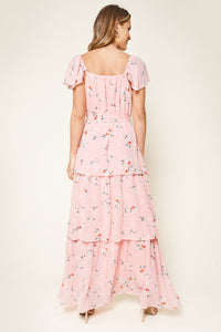 Daydreamer Floral Print Ruffled Tier Maxi Dress