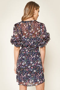 Vida Floral Chiffon Mini Dress