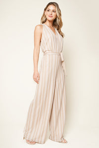 Evanston Striped Wide Leg Jumpsuit