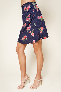 Morning Bloom Floral Print Mini Skirt