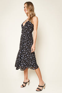 Tiri Floral Midi Wrap Dress