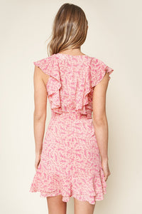 Somebody To Love Floral Print Ruffled Mini Dress