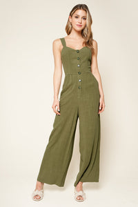Charleston Button Down Jumpsuit