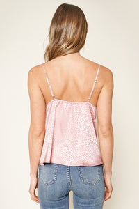 Never Change Snake Print Satin Cami