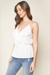 Good Views Plunging Ruffle Cami