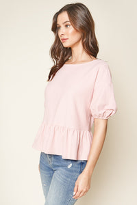Top Back Ruffled Knit Top