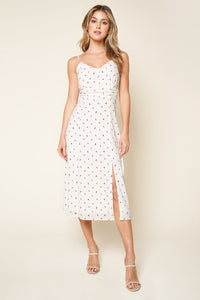 Meet Me In The Garden Floral Print Ruffled Midi Dress