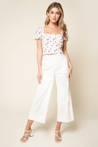 Luelle Floral Crop Top