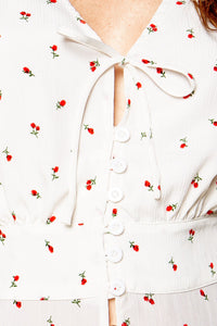 Meet Me in The Garden Floral Print Button Front Blouse