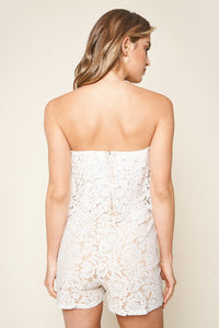 Lust For Love Strapless Lace Romper