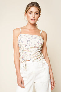 Vineyard Floral Ruched Cami