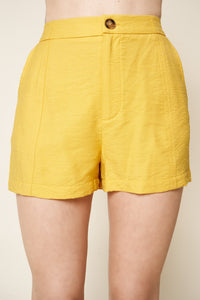 Go With The Flow Single Button Shorts