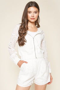 Halle Eyelet Hooded Jacket