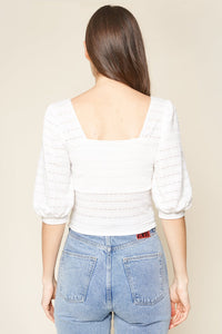 Lovies Knit Buckle Front Crop Top