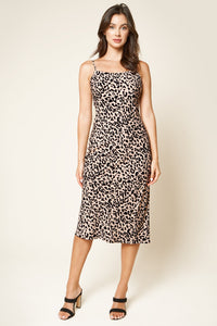 Cale Leopard Print Midi Dress