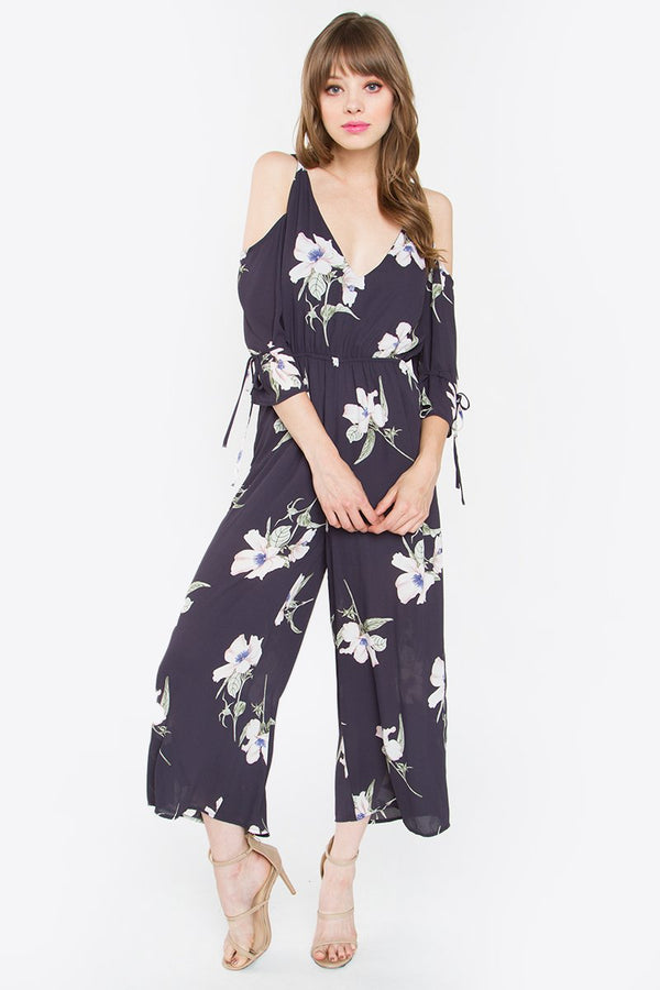 Toni Cold Shoulder Jumpsuit
