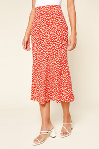 Pretty Fresh Floral Print Midi Skirt