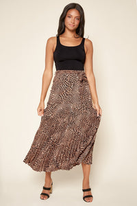 Dance the Night Away Drop Waist Pleated Maxi Skirt