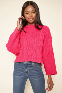 Quincy Cable Knit Cropped Sweater