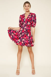 Floral Punch Puff Sleeve Dress