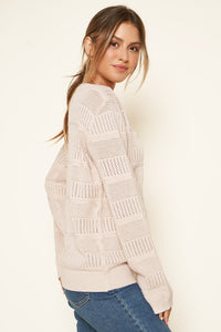 Fergie Pointelle Tunic Sweater