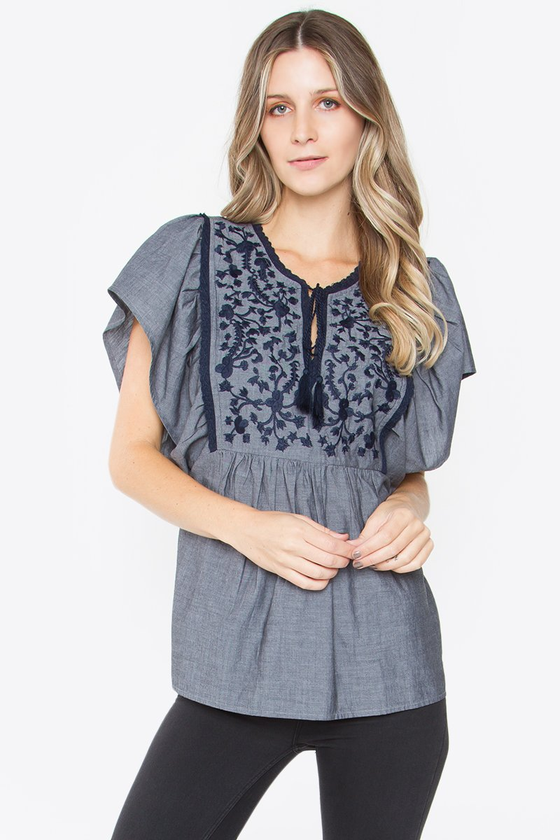 Aurelia Embroidered Top